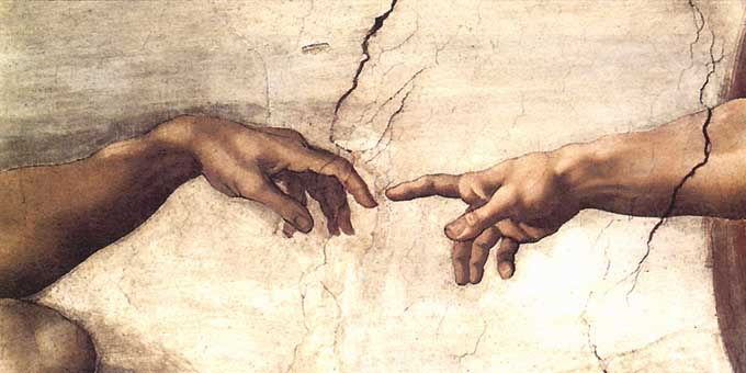 Michelangelo - Creation of Adam (Detail) - Art Prints and Posters